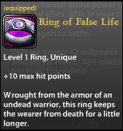 Ring of False Life