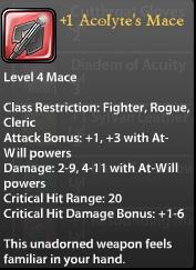 1 Acolyte's Mace