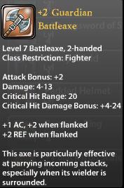 2 Guardian Battleaxe