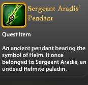 Sergeant Aradis' Pendant