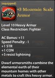 3 Mountain Scale Armor