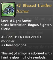 2 Blessed Leather Armor
