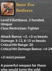 Beast Foe Battleaxe v2
