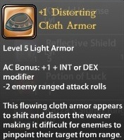 1 Distorting Cloth Armor