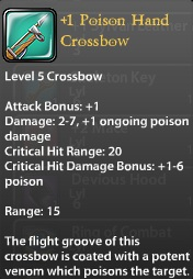 1 Poison Hand Crossbow