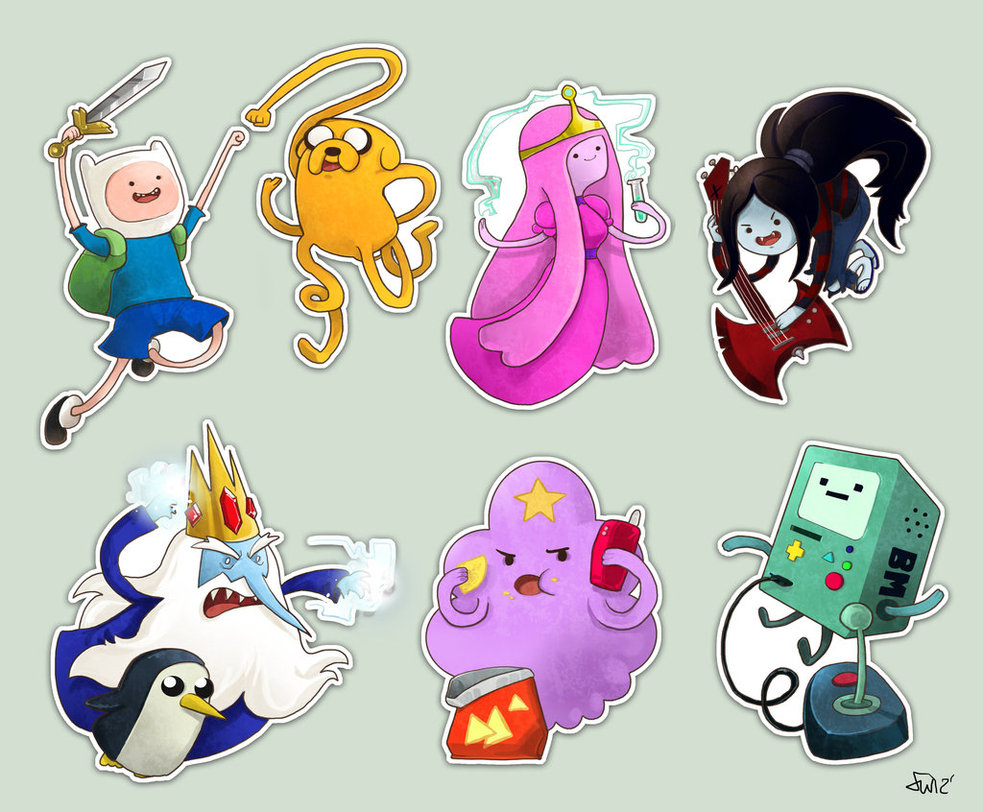 Imagen Stickers Adventure Time By Oneoftwo D54m271 Jpg