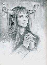 Daemon thing by JipushiPhantasm33