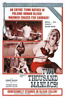 Two thousand maniacs poster 01