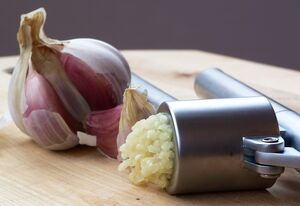 Garlic Press and Garlic