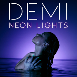 Demi Lovato - Neon Lights (Official single cover)