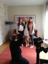 Carola, Hanna and Julia at the 'Yeah' Shooting at Muinch