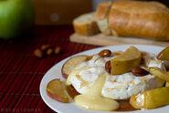 Brie fondant aux pommes et sirop d'érable -)