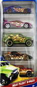 Hot Wheels Heat Fleet 2012 5 pack