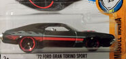 72 Ford Grand Torino Sport Black with Red and Gray Flames