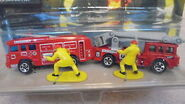 Hot Wheels Fire Fighting Action Pack Fire Trucks and Firefighter Figures