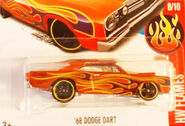 68 Dodge Dart ORANGE W FLAMES