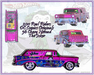 2011 HW Real Riders DC Comics Originals 56 Chevy Nomad Joker