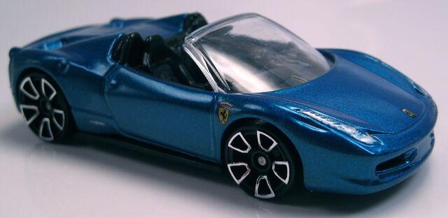 File:Ferrari 458 Spider blue Asphalt Assault.JPG