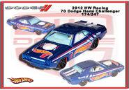 2012 HW Racing 70 Dodge Hemi Challenger