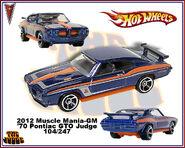 2012 Muscle Mania-GM 70 Pontiac GTO Judge 104-247