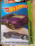 '13 Hot Wheels Chevy Camaro Special Edition purple