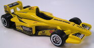 McDonalds F1 car yellow
