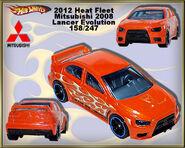 2012 Heat Fleet Mitsubishi 2008 Lancer Evolution 158-247