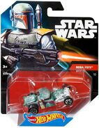CGW42 Hot Wheels Star Wars Character Car Boba Fett XXX