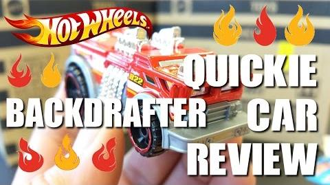 QUICKIE CAR REVIEW Hot Wheels - BACKDRAFTER - New for 2015...SUPER COOL dragged out fire truck