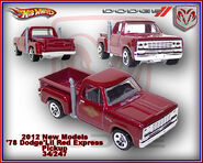 2012 New Models 78 Dodge Lil Red Express Pickup 34-247