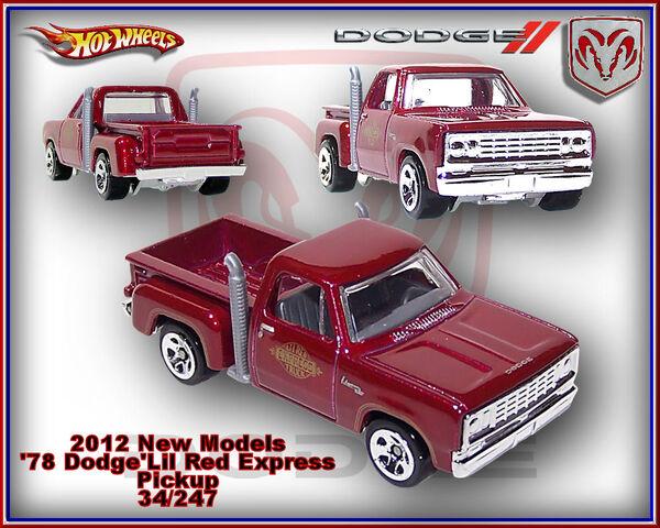 File:2012 New Models 78 Dodge Lil Red Express Pickup 34-247.jpg