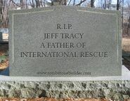 Jeff Tracy tombstone