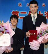 Yao Ming and Liu Xiang