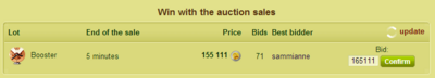 Auction sales!