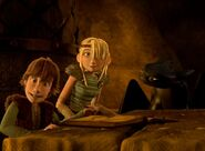 Astrid and Hiccup breaking the fourth wall