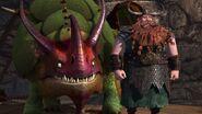 Stoick and his new dragon Skullcrusher