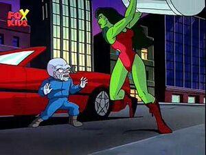 Gargoyle She-Hulk Trashcan
