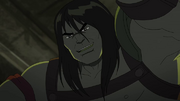 Skaar with an weapon