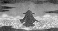 Nasyasu surrounded by glowing corpses