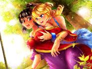 Huniepop beli and jessie by kaskianiohchan-d6psxur