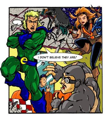 The Ecotist and Vora confront Crime Warp
