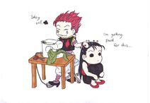 Hisoka and illumi sewing by questsand-d5qda8y