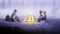 Gon and Killua talking with Kite.png