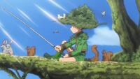 Gon trying to catch the master of the swamp.JPG