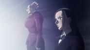 Amane and Tsubone witnessing Alluka's power
