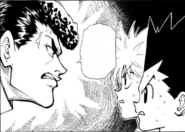 Knuckle underestimating gon and killua