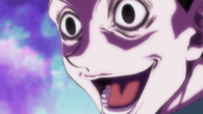 Illumi laughing