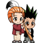 Gon and Mito - New year ver chibi