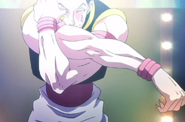 Hisoka makes his way to the ring