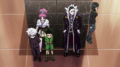 Gon and Killua captured by the Phantom Troupe